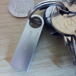 DTSE9 attached to a keyring